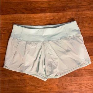 """Lululemon Run Times Shirt II 4"""" size 6"""